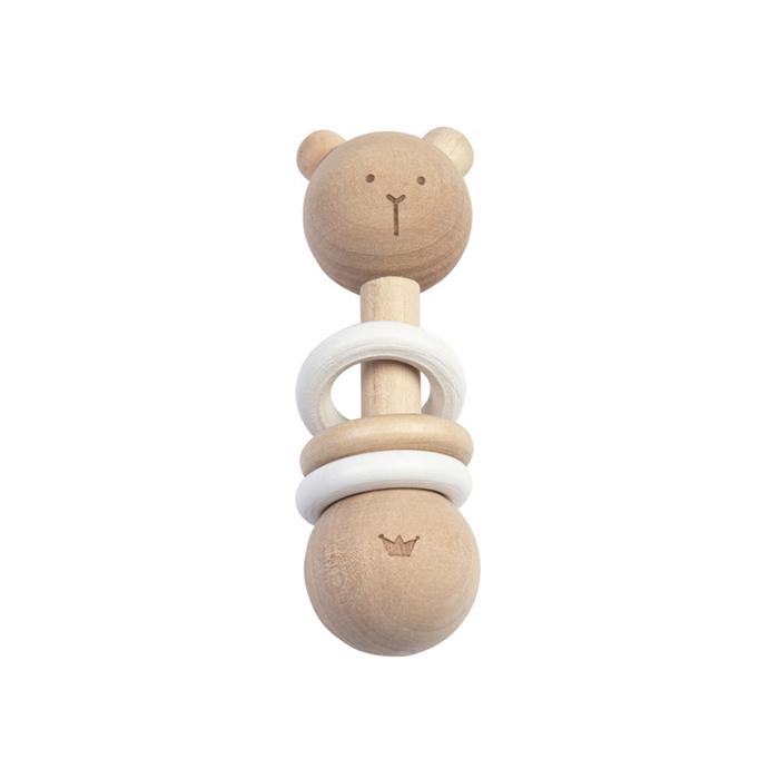 BAMBAM | Chrastítko dřevěné - medvídek