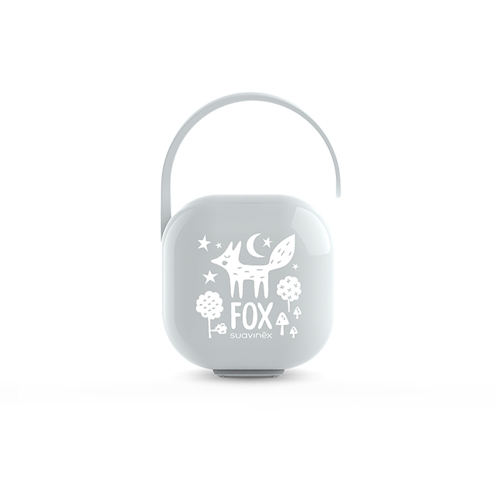 SUAVINEX l Krabička na dudlík FOX - stříbrná