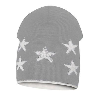 Krásná oboustranná čepice s hvězdami pro malého chlapečka.
