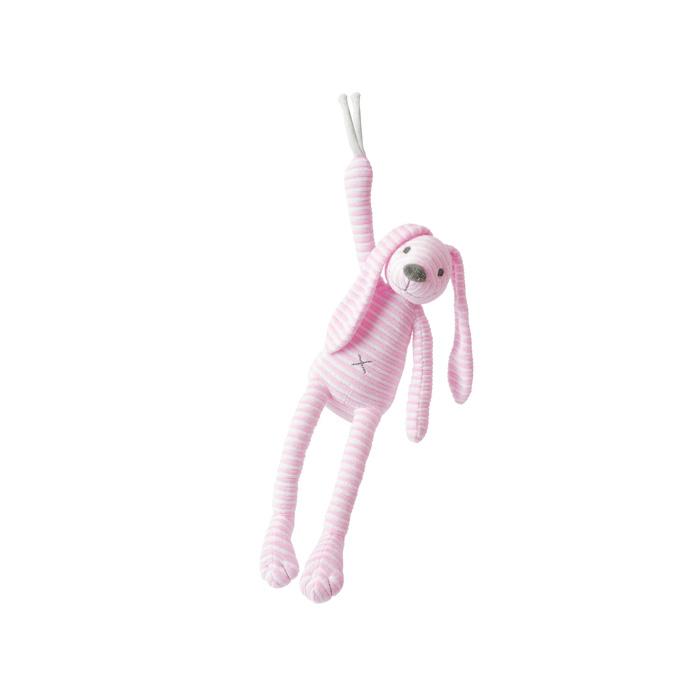 Happy Horse - hudební králíček Reece růžový Velikost: 34 cm